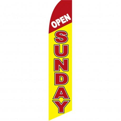 Open Sunday Yellow Swooper Flag