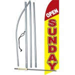 Open Sunday Yellow Swooper Flag Bundle