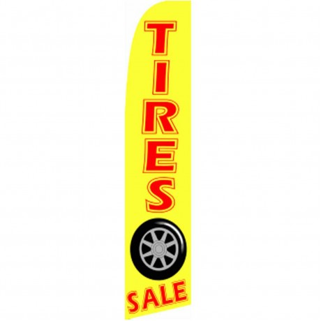 Tires Sale Yellow Extra Wide Swooper Flag