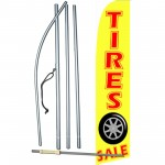 Tires Sale Yellow Extra Wide Swooper Flag Bundle