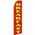 Breakfast Red Extra Wide Swooper Flag