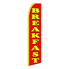 Breakfast Orange Red Extra Wide Swooper Flag