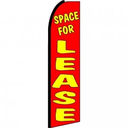 Space For Lease Extra Wide Swooper Flag