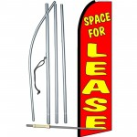 Space For Lease Extra Wide Swooper Flag Bundle