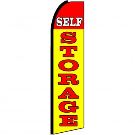 Self Storage Yellow Extra Wide Swooper Flag