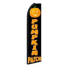 Pumpkin Patch Extra Wide Swooper Flag