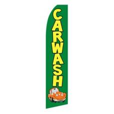 Car Wash Green Car Swooper Flag