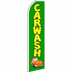Car Wash Green Car Swooper Flag