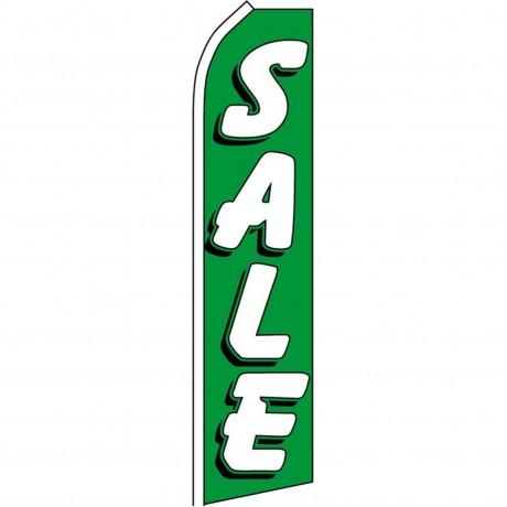 Sale Green Swooper Flag