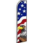 USA Eagle Swooper Flag