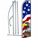 USA Eagle Swooper Flag Bundle