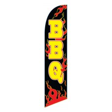 BBQ Flames Black/Yellow Swooper Flag