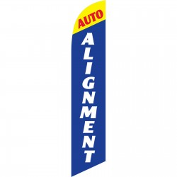 Auto Alignment Blue Windless Swooper Flag