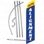 Auto Alignment Blue Windless Swooper Flag Bundle