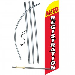 Auto Registration Yellow/Red Windless Swooper Flag Bundle