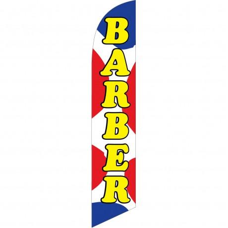Barber Shop Red Blue Dots Windless Swooper Flag