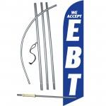 We Accept EBT Blue Windless Swooper Flag Bundle