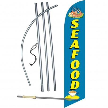 Seafood Windless Swooper Flag Bundle