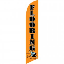 Flooring Orange Windless Swooper Flag