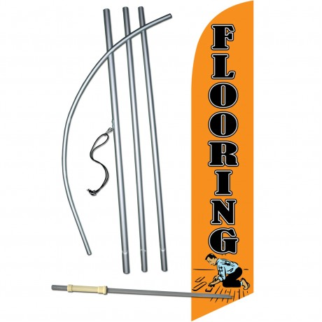 Flooring Orange Windless Swooper Flag Bundle