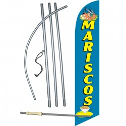 Mariscos(Seafood) Windless Swooper Flag Bundle