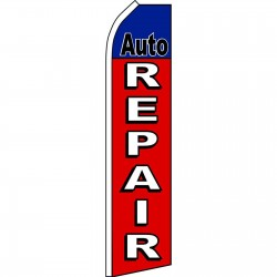 Auto Repair Red Swooper Flag
