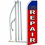 Auto Repair Red Swooper Flag Bundle