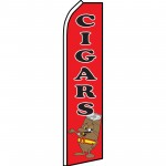 Cigars Black/Red Swooper Flag