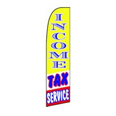 Income Tax Service Yellow/Blue/Red Extra Wide Swooper Flag