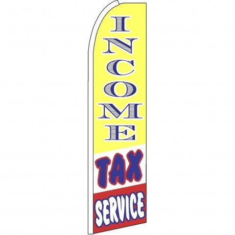 Income Tax Service Yellow Extra Wide Swooper Flag