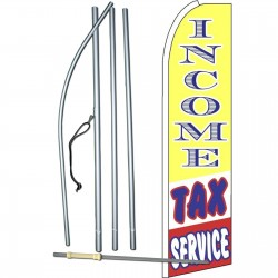 Income Tax Service Yellow Extra Wide Swooper Flag Bundle
