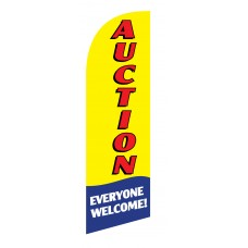 Auction Everyone Welcome Junior Swooper Flag