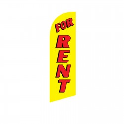 For Rent Red/Yellow Junior Swooper Flag