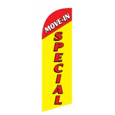 Move In Special Red Top Junior Swooper Flag