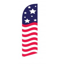 USA Stars/Stripes Top & Bottom Junior Swooper Flag