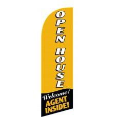 Open House Gold Top/Bottom Junior Swooper Flag