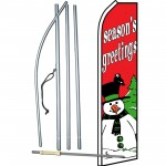 Seasons Greetings Snowman Swooper Flag Bundle