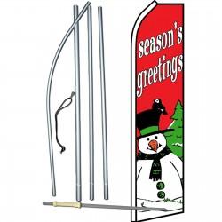 Seasons Greetings Snowman Swooper Flag Bundle