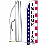 Income Tax Stars & Stripes Extra Wide Swooper Flag Bundle