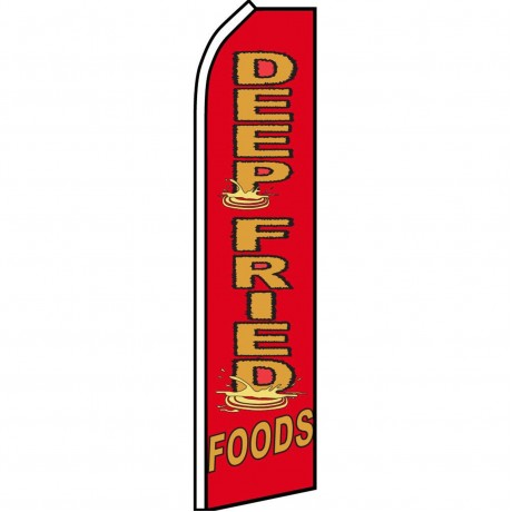 Deep Fried Foods Red Swooper Flag