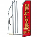 Deep Fried Foods Red Swooper Flag Bundle