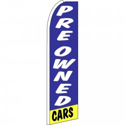 Pre-Owned Cars Blue Yellow Swooper Flag