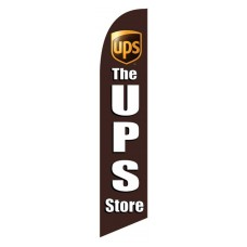 UPS Store Brown Windless Swooper Flag