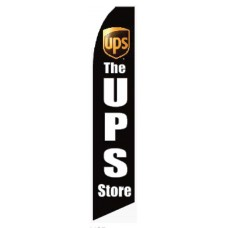 UPS Store Black Swooper Flag