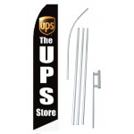 UPS Store Black Swooper Flag Bundle