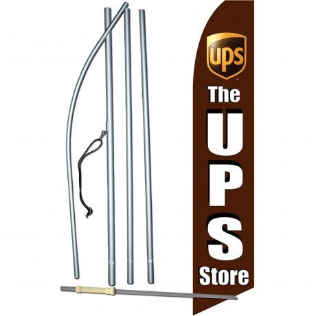 UPS Store Black Swooper Flag Bundle