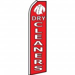 Dry Cleaners Red Swooper Flag