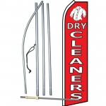 Dry Cleaners Red Swooper Flag Bundle