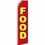 Food Red Swooper Flag
