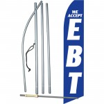 We Accept EBT Blue Swooper Flag Bundle